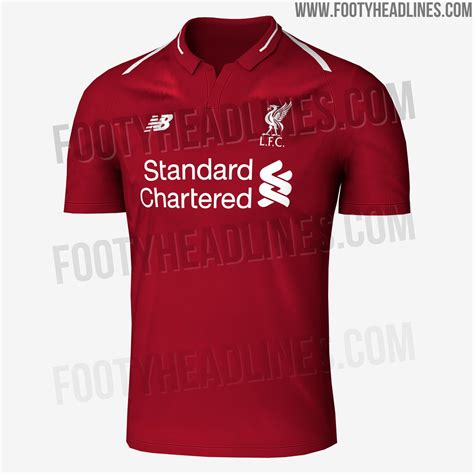liverpool kit new liverpool kit liverpool fc shirt uksoccershop liverpool 18 19 home kit leaked footy headlines