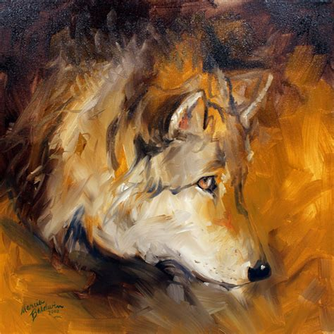 wolf painting daily paintings originals by marcia baldwin
