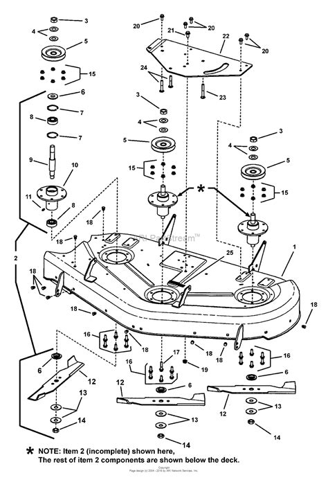 simplicity 2690475 javelin 20hp b s rider w 44 quot mower parts diagram for 44 quot mower deck