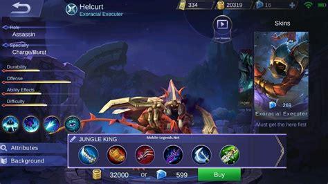 mobile legend damage helcurt jungle king damage build 2018 mobile legends