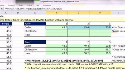 excel tutorial array formula excel index array formula exle excel sumproduct