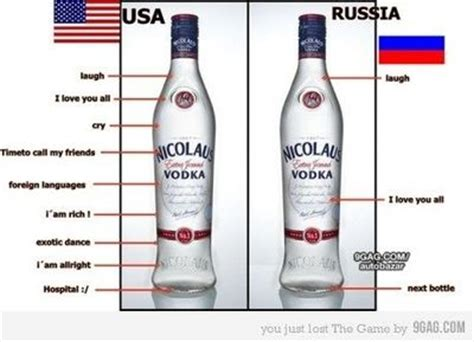 russia vs usa about vodka / internet memes juxtapost