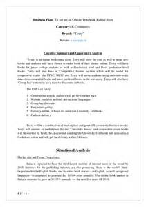 e commerce business plan template book rental system e commerce business plan