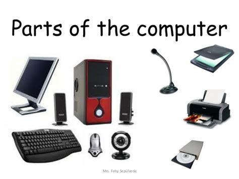 Computer Parts Parts Of The Computer