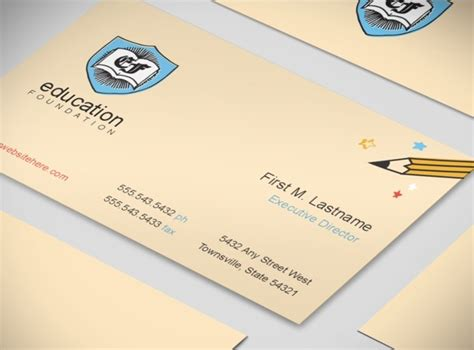 non profit business cards templates education organization foundations business card templates