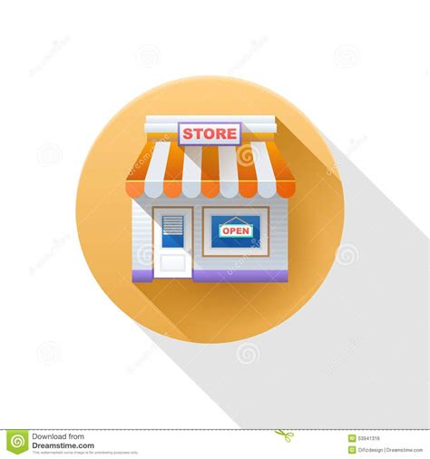 store layout vector store icon shop icon stock illustration image of