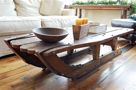 Sled Coffee Table Sled As A Coffee Table New Idea For Me Ideas For My