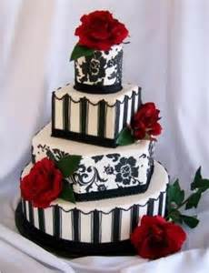 Black and white and red wedding cakes black and white and red