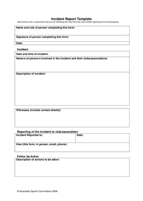 Incident Report Exle School Incident Report Template 2 Legalforms Org