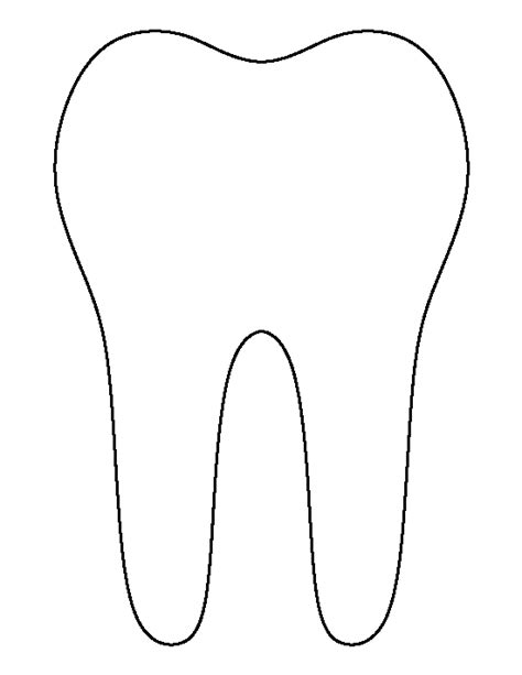 tooth template tooth pattern use the printable outline for crafts