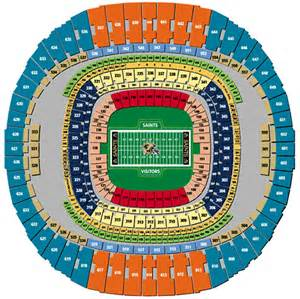 Mercedes Superdome Football Seating Chart Nfl Football Stadiums New Orleans Saints Stadium