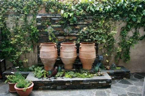 greek backyard designs terrace garden designs greek urns help in creating a fountain with creativity
