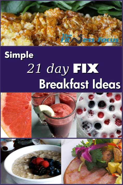 8 Fix Breakfasts For by 21 Day Fix Breakfast Ideas With Included Recipes