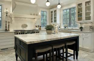 White Marble Kitchen Island Types Of Kitchen Countertops Image Gallery Designing Idea