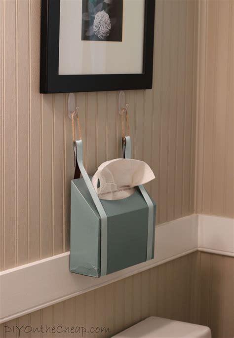create  guest ready bathroom  kleenex   diy