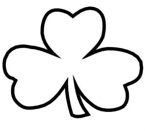 Saint Patrick S Day Coloring Pages Shamrock Coloring Page