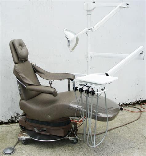 used dental chair parts dentalez v chair adec 4200 dual unit p c lf1 light