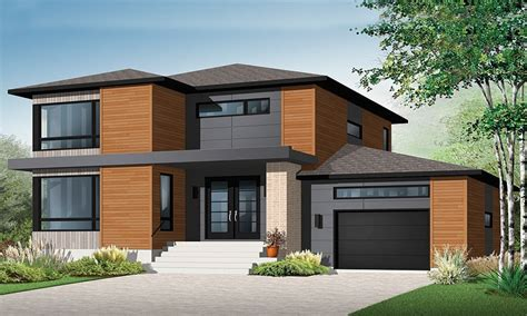 Nice 2 Story House Modern 2 Story Contemporary House Plans Modern Homes House Plans
