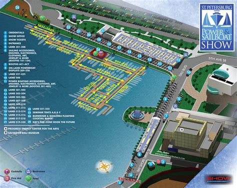 st pete boat show illustrated show map illustrated map for a power and