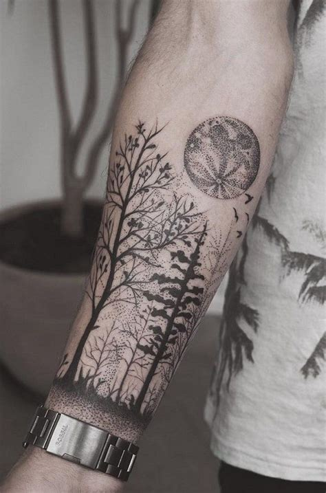 tattoo on forearms design forearm forest designs ideas and meaning tattoos