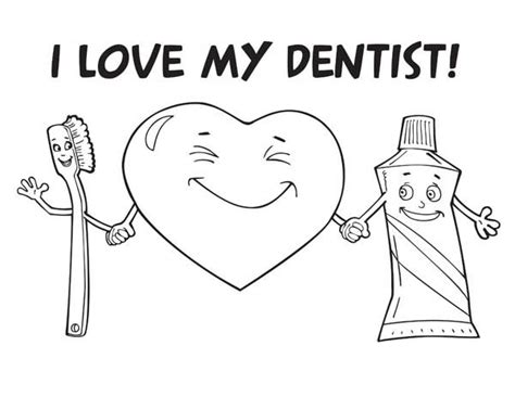 I Love My Dentist Coloring Pages Bulk Color I My Coloring Pages