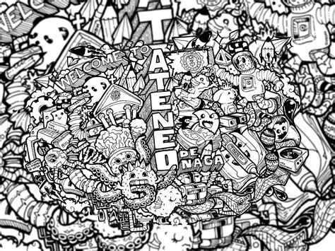 black and white doodle wallpaper doodle welcome to ateneo de naga iii by joshuavillaluna