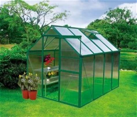 Backyard Kits by Earthcare Basic 6 X 8 Backyard Greenhouse Kit Polycarbonate Greenhouses Patio