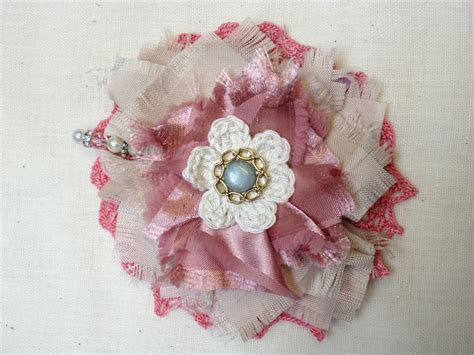 Handmade Flowers With Fabric - handmade fabric flower bows flowers knots