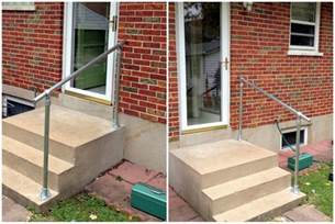 Exterior Handrail Kits For Stairs by Easy To Install Outdoor Stair Railing