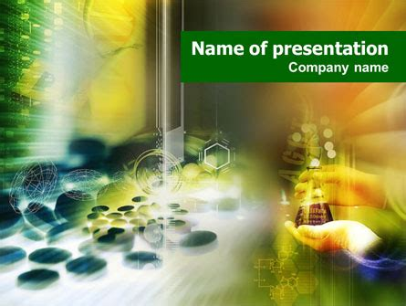 pharmacology lab powerpoint template backgrounds 01354