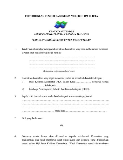contoh surat berjaya tender 28 images resignation letter quotation