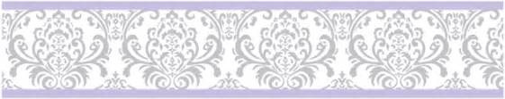 Elizabeth lavender and gray damask baby children and kids wall paper
