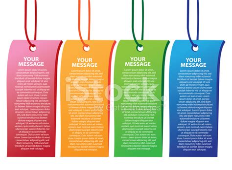 layout bookmark colorful tags and bookmarks layout design template stock
