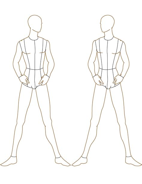 fashion design silhouette templates lim image from 2 roupas masculinas post 16