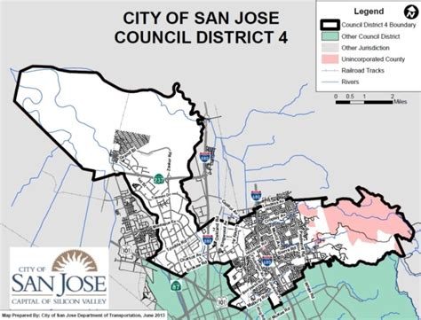 san jose city map boundary san jose ca official website maps