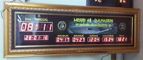 cara membuat jam digital masjid jual jam digital masjid jadwal sholat digital 5 waktu