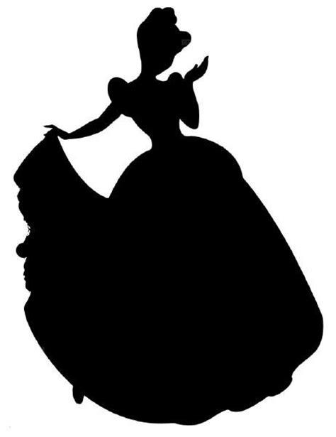 printable vinyl for silhouette cinderella silhouette vinyl decal 4 00 via etsy