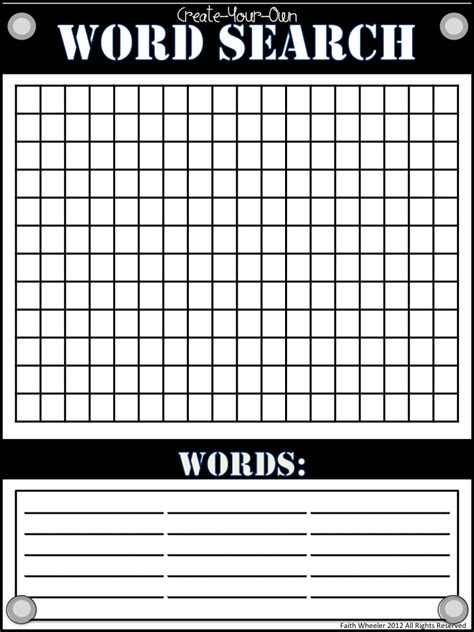 search results for blank word search template calendar