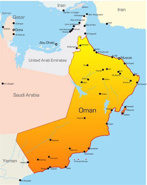 oman political map oman karte st 228 dte