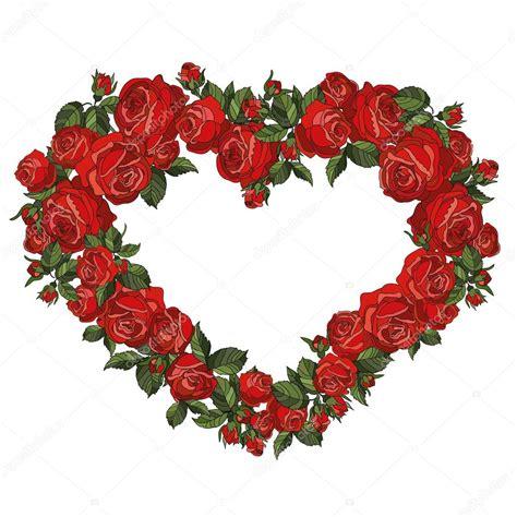 cornici cuore cornice cuore di rosse vettoriali stock