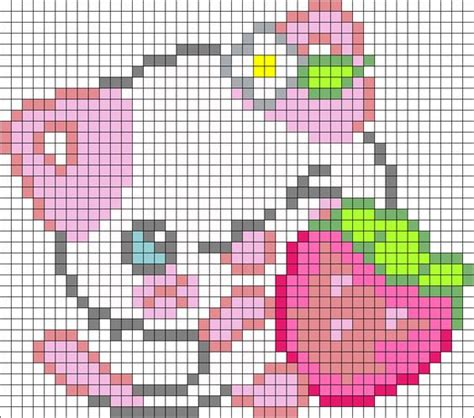 pink kitty pattern pink kitty perler bead pattern bead sprite diy and