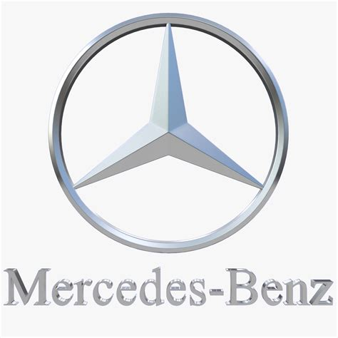 Mercedes Logo 3d Model Max Obj 3ds Fbx Dxf Stl