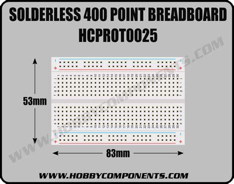 Mini Breadboard 400 Point solderless 400 point breadboard