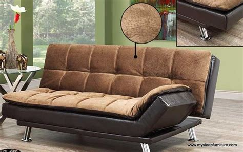 elephant skin brown fabric  tone klik klak sofa bed mysleep