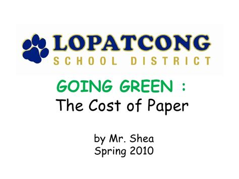 Going Green Essay by Going Green