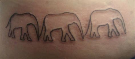 tattoo elephant outline elephant outline tattoo by mustang inky on deviantart