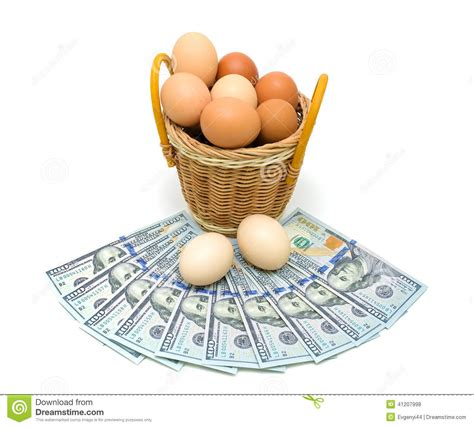 Nbc Shells Out Money For Royalty by Money Bag With Eggs And Egg Shells Royalty Free Stock