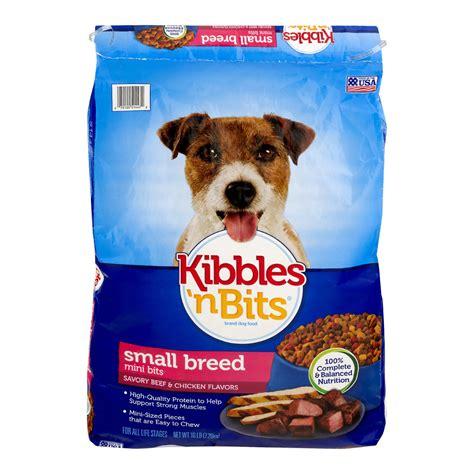 kibbles  bits small breed mini bits savory beef