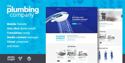 plumbing repair building construction theme by