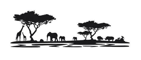 wandtattoo afrika m1 wandtattoos silhouetten